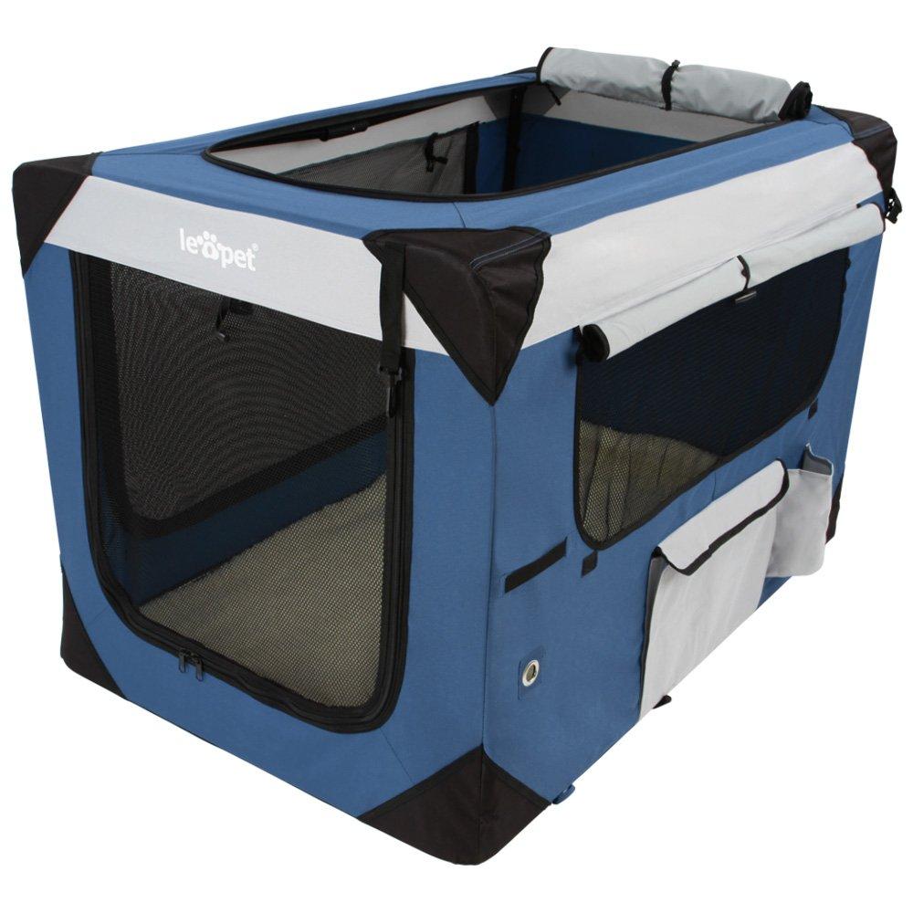Leopet - Caisse de transport - taille XXL - pour animaux - pliable - en polyester - DIVERSES TAILLES AU CHOIX Jago