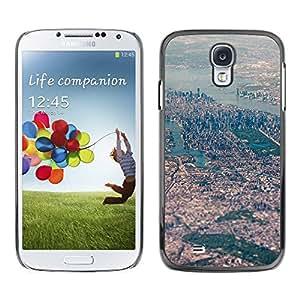 Paccase / SLIM PC / Aliminium Casa Carcasa Funda Case Cover - View Big City River Landscape - Samsung Galaxy S4 I9500