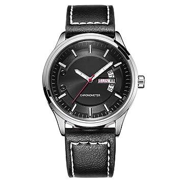 North King Casual Watch Relojes Bonitos Cuarzo Relojes Fecha Display Luminoso Impermeable Hombre para Regalo de