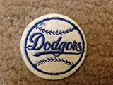 "1970 VINTAGE LOS ANGELES DODGERS IRON ON PATCH 2"" CIRCLES OLD STORE STOCK"