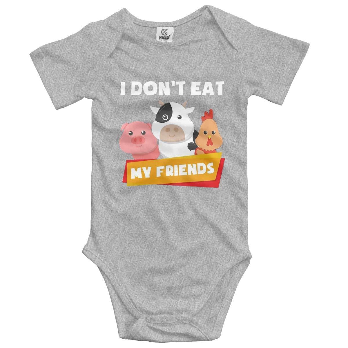VANMASS Infant I Dont Eat My Friends Short Sleeve Bodysuit Jumpsuit Romper