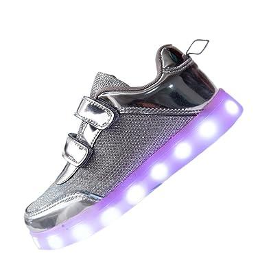 faca474533 DoGeek - Chaussure LED Enfant Gar?on Fille - 7 Couleurs Lumineuse Baskets  Mode-