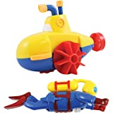 Sealife Swimmers Scuba Diver And Submarine Wind-up Bathtub And Pool Toys Set