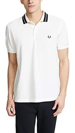 757c04f8e Fred Perry M4528 Bold Tipped Pique Polo Snow White  Amazon.co.uk  Clothing