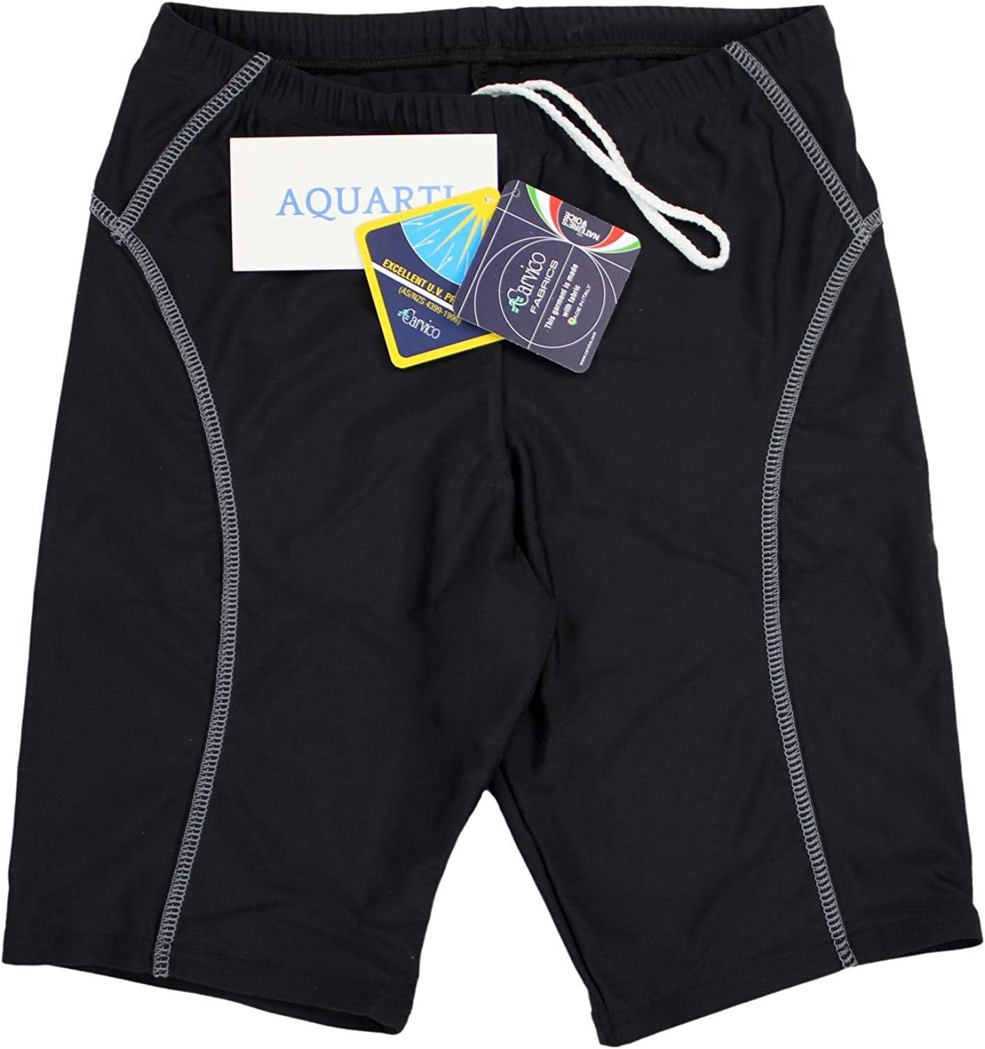 Aquarti Mens Swimming Trunks Jammer with Contrast Seams