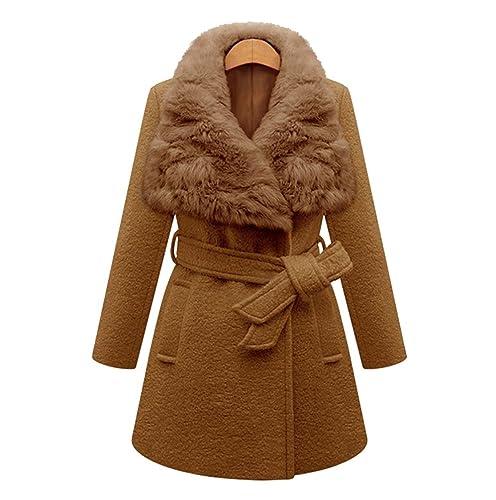 Heheja Mujer Cálido Trench Coat Rompevientos Elegante Abrigo de Invierno