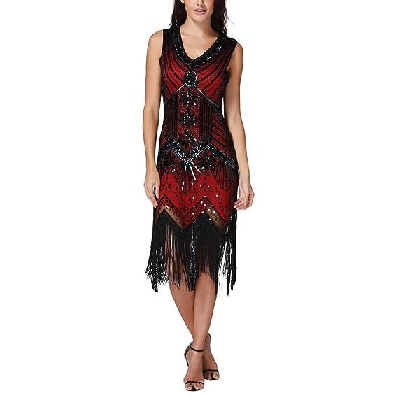 e47be76b2aa QinMM Femme Robes de Soirée Longues Sexy Paillettes Strass Élégant ...