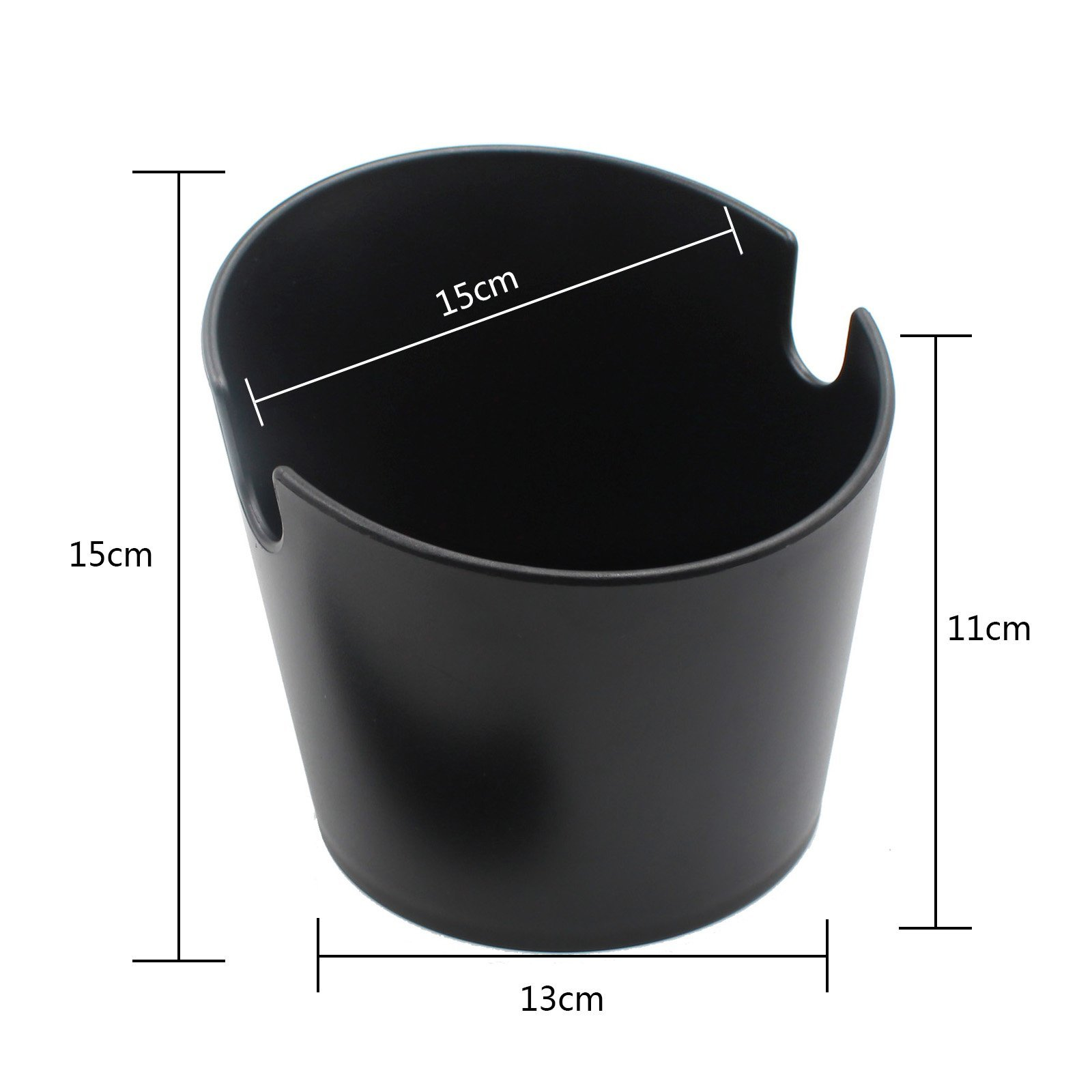 Yolococa Espresso Coffee Knock Box Container for coffee ground Black