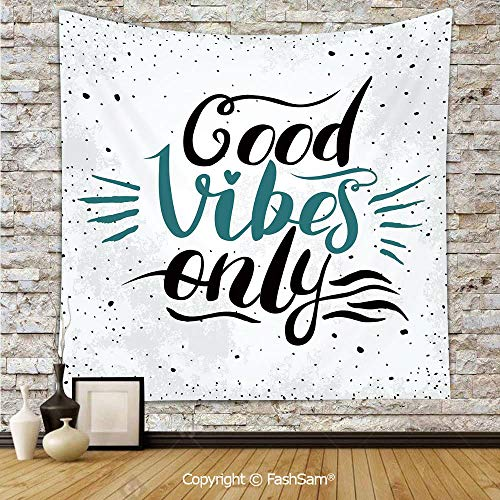 - FashSam Tapestry Wall Blanket Wall Decor Stylized Hand Letters Calligraphy Dots Wavy Lines and Little Heart Modern Home Decorations for Bedroom(W39xL59)