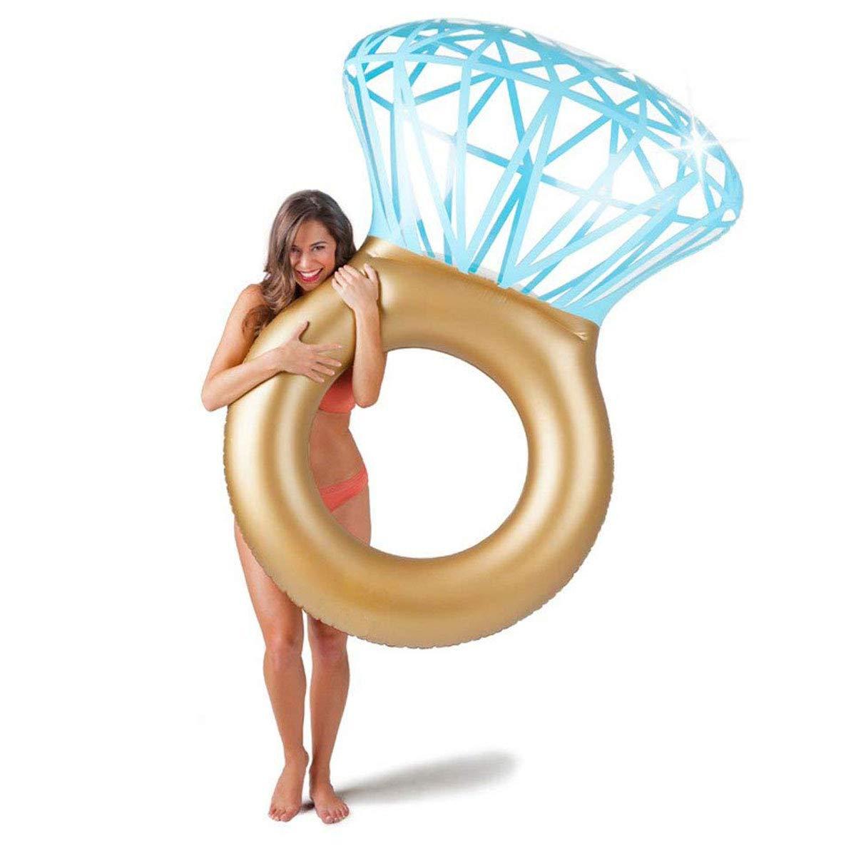 Aufblasbarer Diamantring Schwimmreifen - Schwimmring als Romantische Diamant Badeinsel Goods & Gadgets