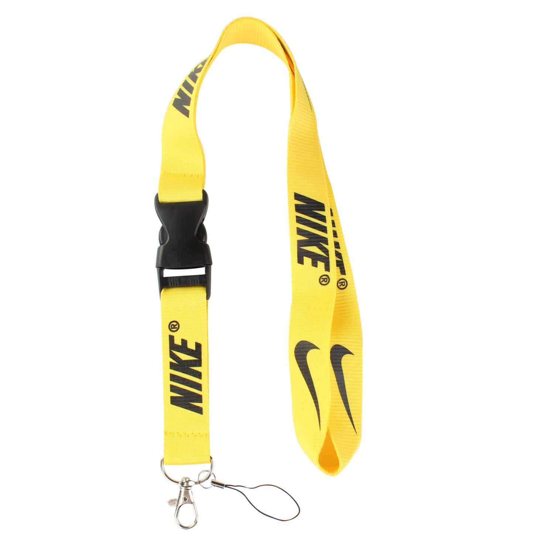 Lanyard Keychain Holder Keychain Key Chain Black Lanyard Clip with Webbing Strap (Nike Yellow)