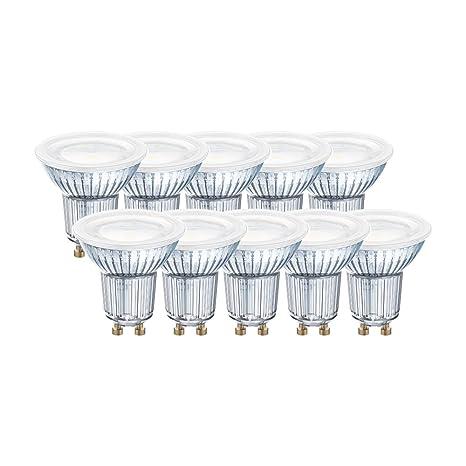 Osram 043060 Bombilla LED GU10, 4.3 W, Blanco, 10 Unidades