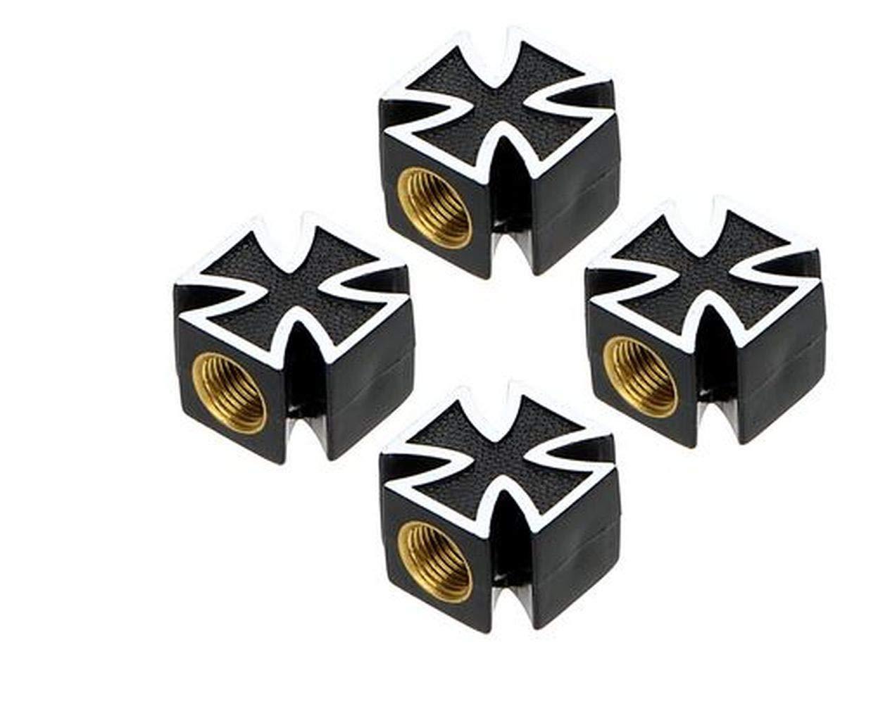 Colore: Nero MHW a Forma di Croce 4 Pezzi Tappi per valvola