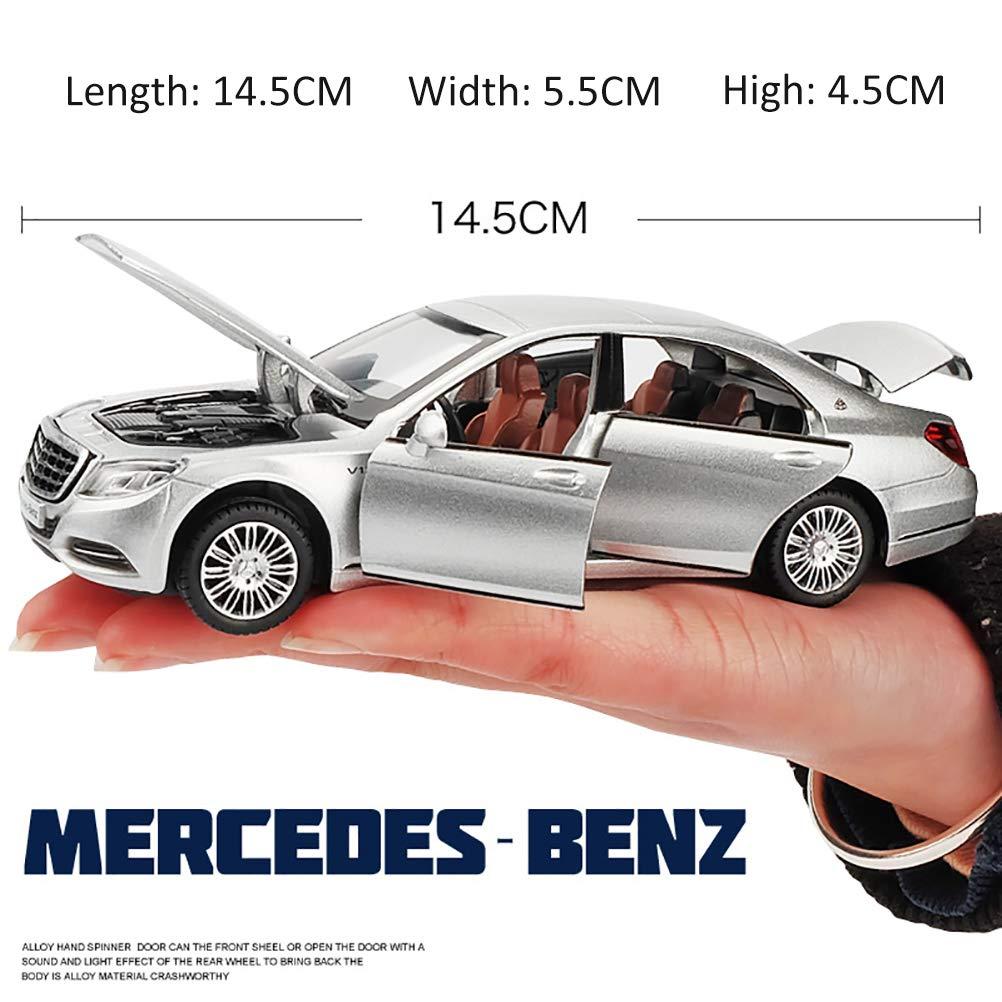 Mercedes Benz Classe S Wagon 1//32 modellino Auto ANYWN Modellini di Automobili Lega pressofusa Model Car Collection Decoration Ornamenti,Blu