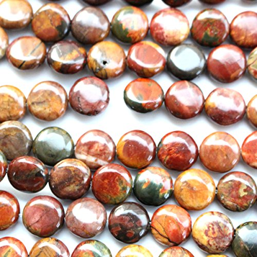 - Natural Picasso Jasper Gemstone Loose Beads Findings Jewerlry Making (Coin 10mm)