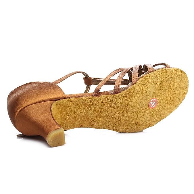 66556486 HROYL Mujer Zapatos de Baile Latino Satin Salón de Baile 227: Amazon.es:  Zapatos y complementos