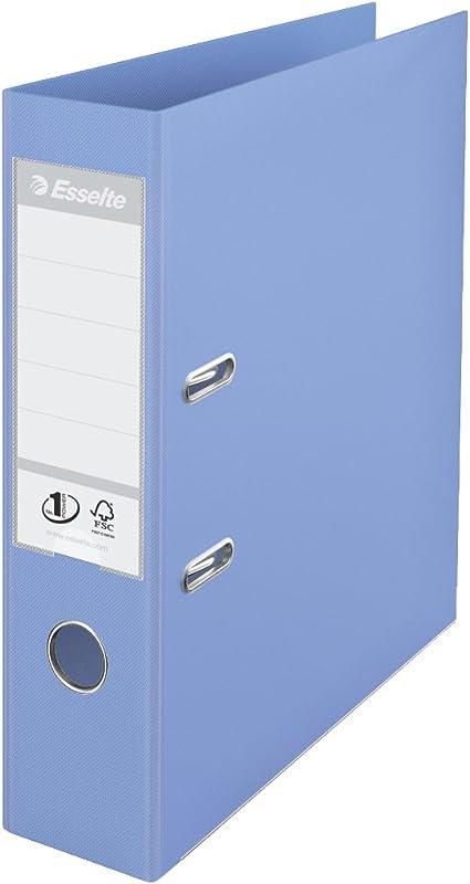 Esselte - Archivador de anillas (tamaño A4, lomo de 75 mm), color violeta: Amazon.es: Oficina y papelería