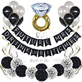 Bachelorette Party Decorations Kit Bridal Shower Supplies with Bride to Be Sash, Banners, Balloons, and Flowers (35 Pc Set)