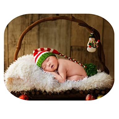 coberllus newborn baby christmas photography props outfits hat for boys girls photography shoot