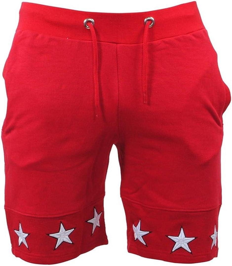 Mikkar Mens Shorts Star Casual Pocket Beach Work Short Trouser Fashion Pants Sale