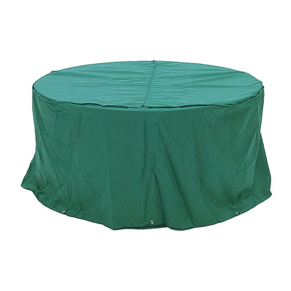 Copertura Tavolo da Giardino rossoondo per Esterno con Tavolo e sedie Set mobili, Resistente e Impermeabile, Grande, verde Scuro (Dimensioni   120x120x90cm)