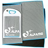 wwww Balhvit Cooling Towel Evaporative Chilly Towel For Yoga Golf Travel-Gray/Blue-Large (47x14-Inch)