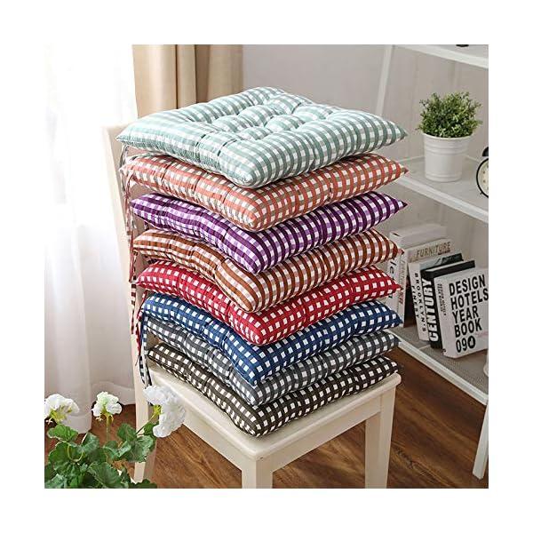 WDOIT - Cuscino per Sedia, particolarmente Imbottito, per mobili in Rattan, da Giardino, Stile 3, 40 * 40cm 6 spesavip