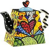 Romero Britto Ceramic 50 ounce Teapot, A New Day Design