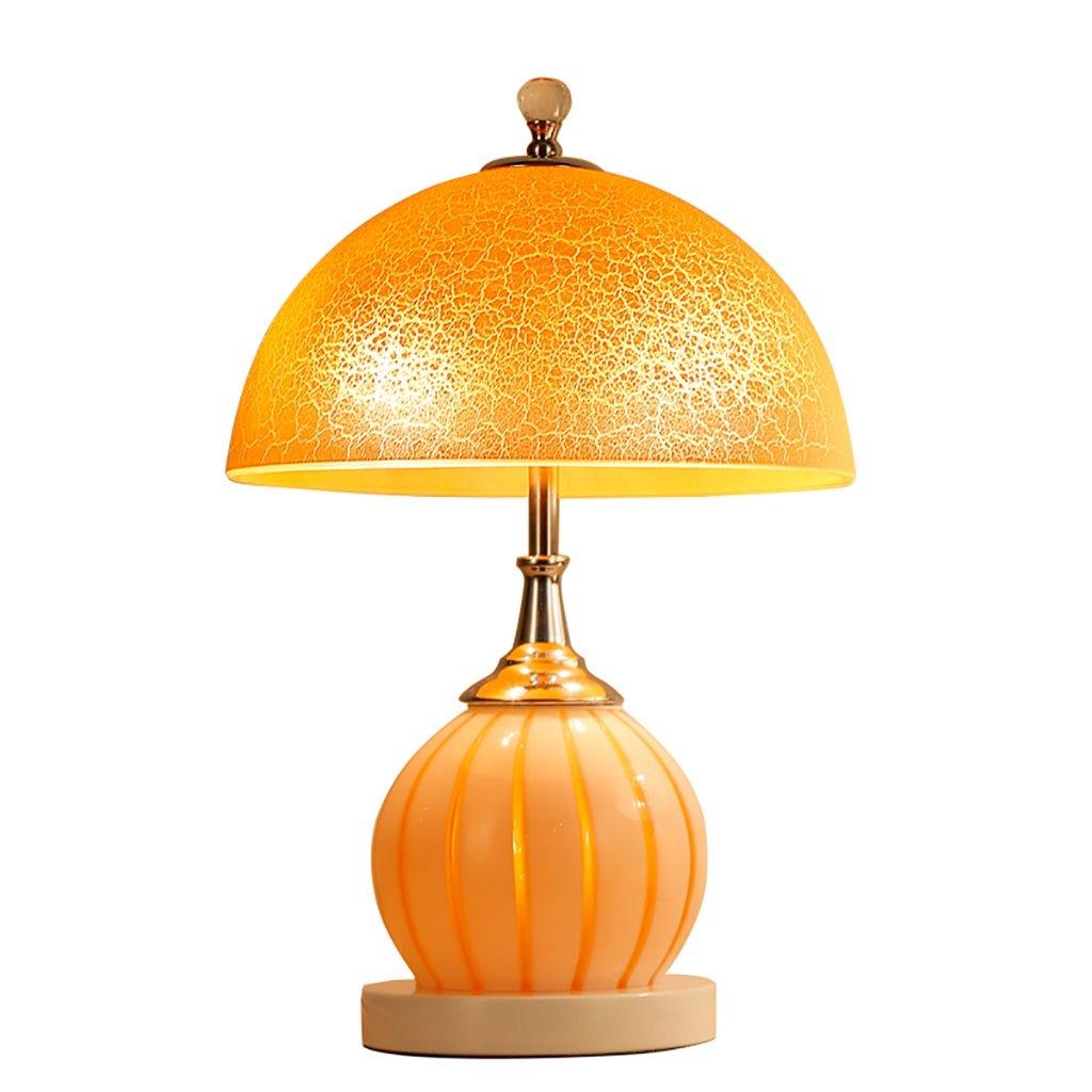 MIAOLIDP Moderne minimalistische Tischlampe kreative Studie Schlafzimmer Schlafzimmer Lampe Hochzeit Glas warme Nachttisch Lampe warmes Licht Augenschutz Tischlampe