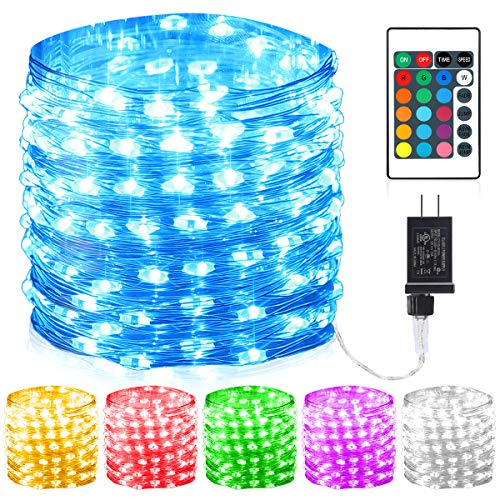 GDEALER 100 Led 16 Colors String Lights Multi Color Change String Lights Remote Fairy Lights with Timer 33ft Firefly Twinkle Lights for Bedroom Party Wedding Halloween Christmas Decor -