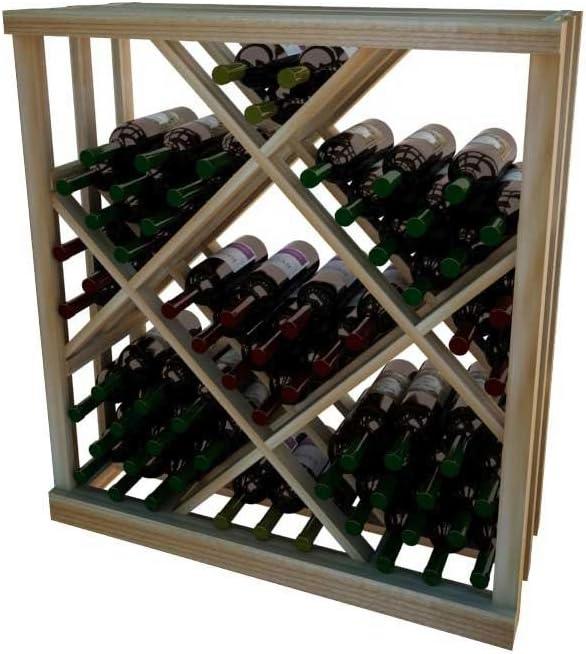 47 1//2 Inches Tall 15 Bottle Storage Modern Looking Metal Floor Wine Rack