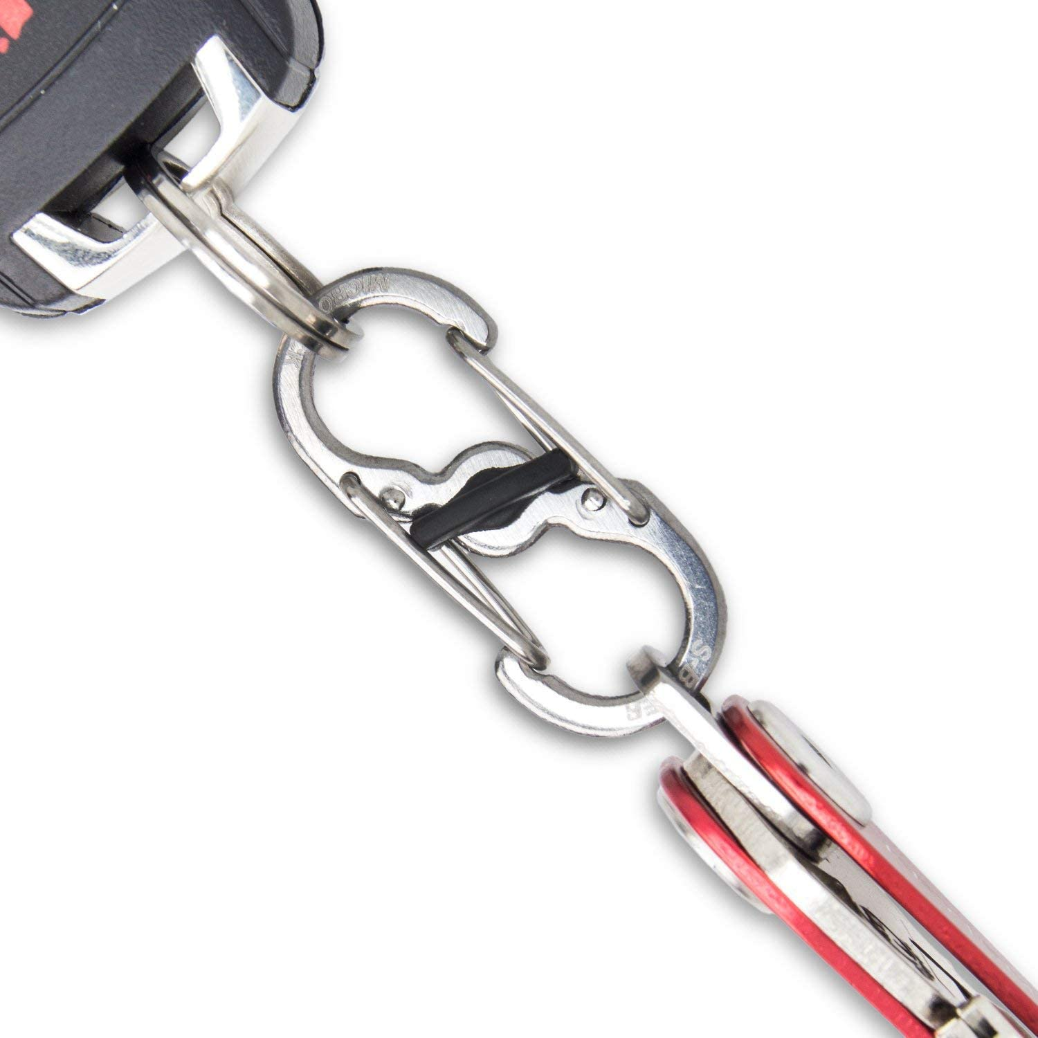 KEYSMART Silver Quick Disconnect, convenient, hiking, camping, secured,safety, outdoor, activity, key, key holder, key lock