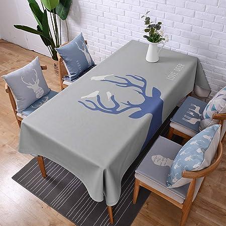 Myzixuan Estera de la mesa Rectangular simple mantel algodón ...