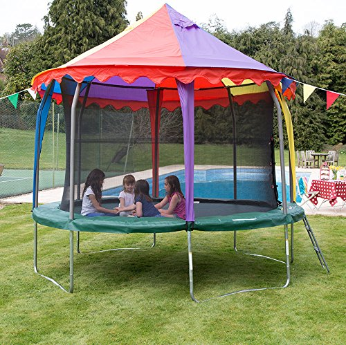 14ft Jumpking Tr&oline Canopy Roof (THIS IS A ROOF FOR A TRAMPOLINE NOT A COMPLETE TRAMPOLINE) Amazon.co.uk Toys u0026 Games & 14ft Jumpking Trampoline Canopy Roof (THIS IS A ROOF FOR A ...