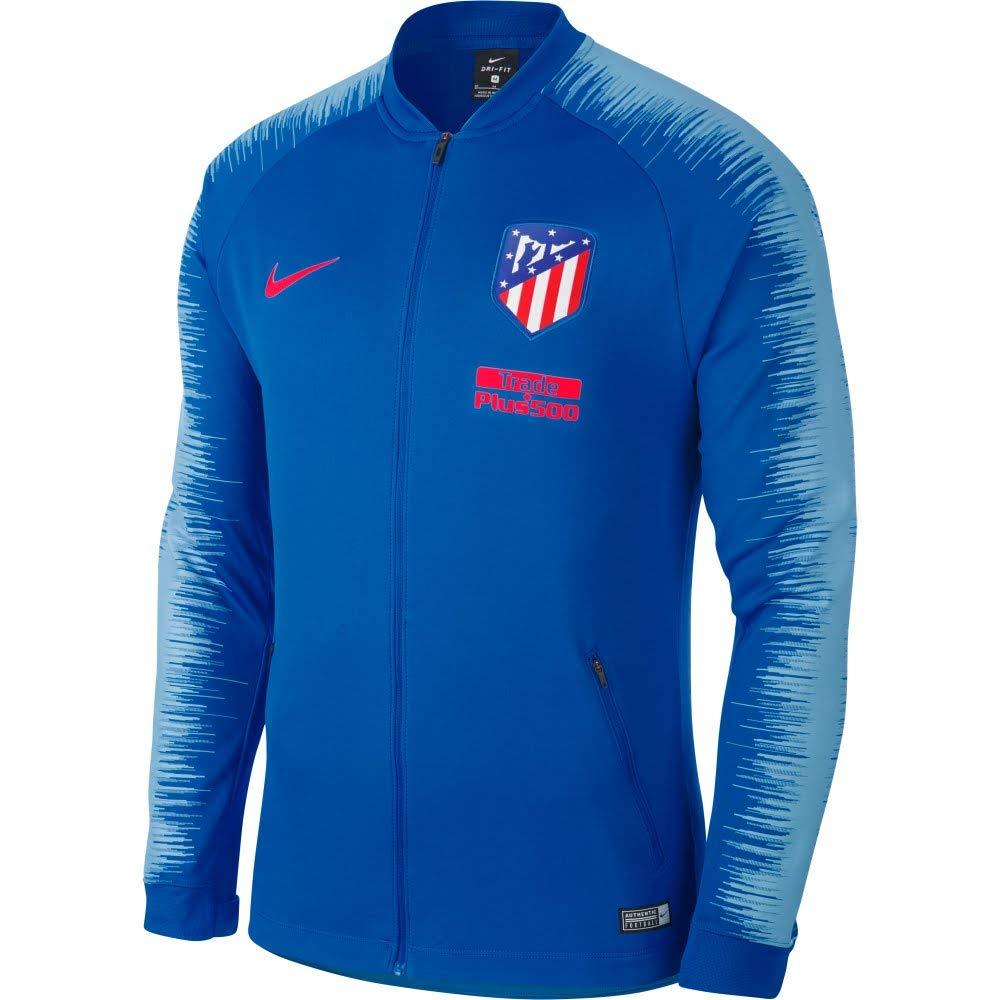 Nike ATM M NK ANTHM FB JKT - Chaqueta, Hombre, (Blue Nebula/Blue Nebula/Bright Crimson): Amazon.es: Deportes y aire libre