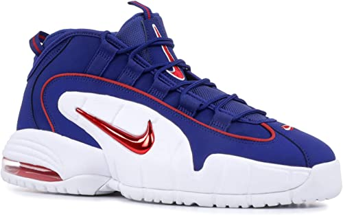 Nike Men's Air Max Penny Red and Blue Leather Sneaker 44,5(EU) 10½(US) Multicolour