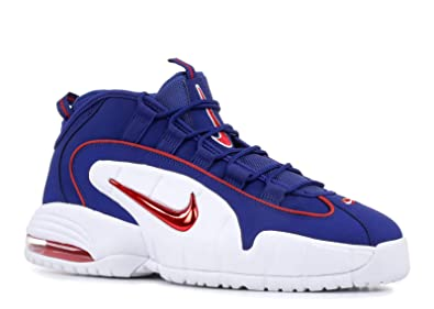 dc113191b4 Nike Men's Air Max Penny Red and Blue Leather Sneaker 44,5(EU)