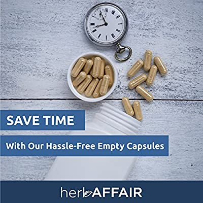Herb Affair Clear Empty Gelatin Capsules Size 0 - 1000 Count - Holds 400-800mg - Great For Dogs and Kids Medication - Works With Most Capsule Fillers