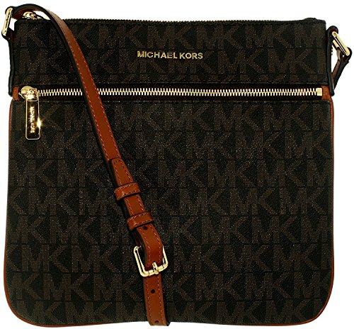 6df42b4e3f Michael Kors Women s Bedford Flat Signature Crossbody Cross Body Bag Tote -  Luxury Beauty Store