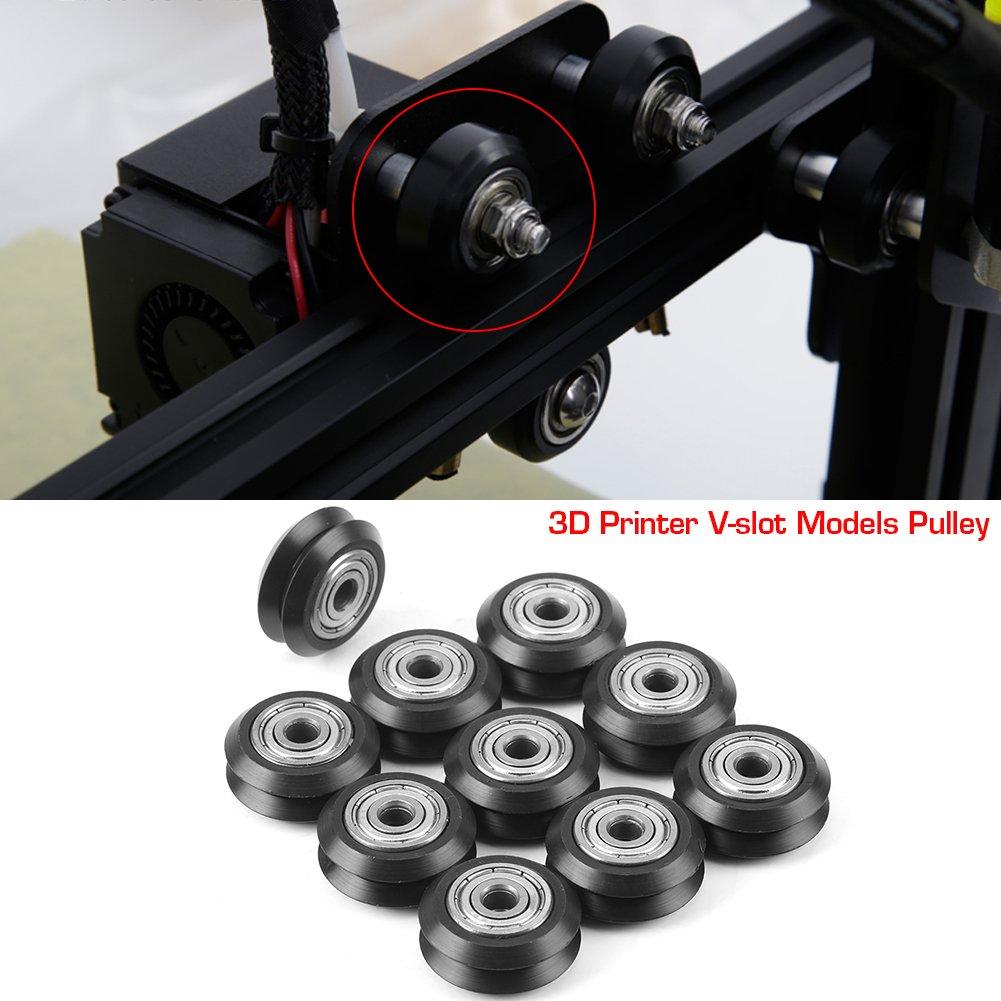 3D 10pcs Poleas V-slot de Impresora 3D POM Rueda de V de Plástico ...