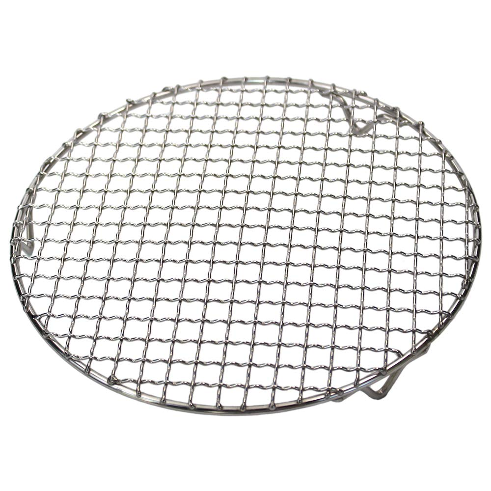 M-Aimee 1Pack Multi-Purpose Round Stainless Steel Cross Wire Steaming Cooling Barbecue Racks/Carbon Baking Net/Grills/Pan Grate with Legs (Diameter 10 Inches)