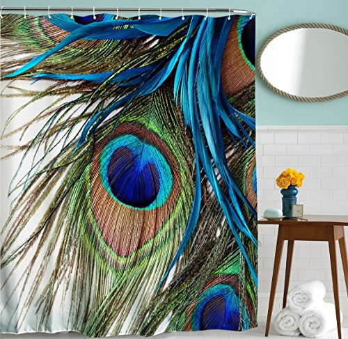 peacock shower curtain by feather eye waterproof fabric bath shower curtains72