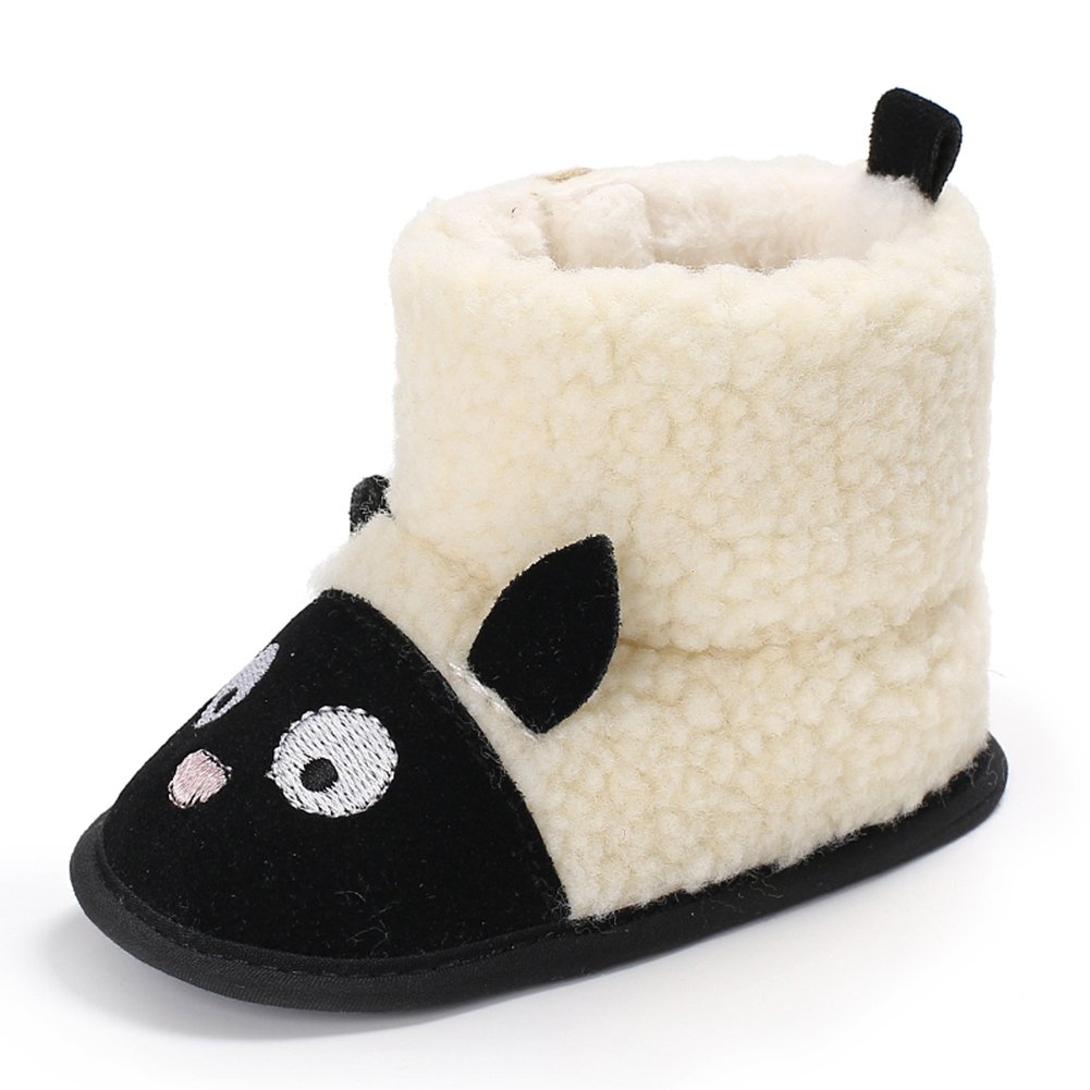 Yinpinxinmao Baby Winter Warm Shoes Sheep Style Indoor Anti-Slip Shoes for Boys Girls