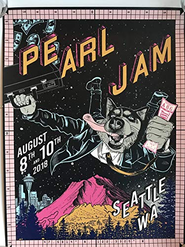 - Pearl jam seattle poster 2018 Faile safeco field mariners the home shows