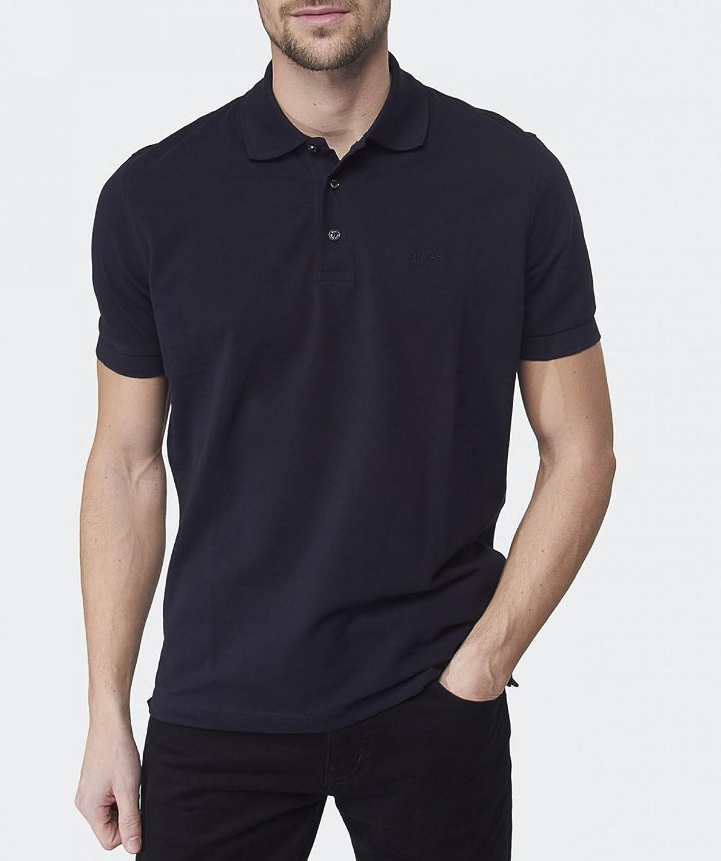 Hugo Boss Polo Poloshirt Regular-Fit Polo 'Ferrara Modern Essential' aus Piqué von BOSS Size: S / 50263587 BLUE KMqSG