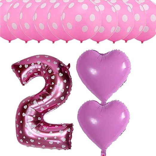 Amazon.com: Globos de lámina para bebé de 2 años con lunares ...