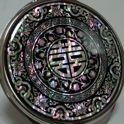 Antique Alive M109 Round Compact Mirror, 3.7 Ounce