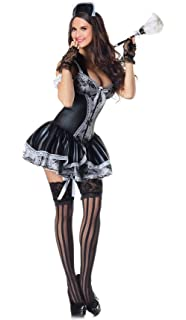 ea2bd9602537 JJ-GOGO Sexy French Maid Costume - Women Sexy Maid Body Shaper Costume for  Adult