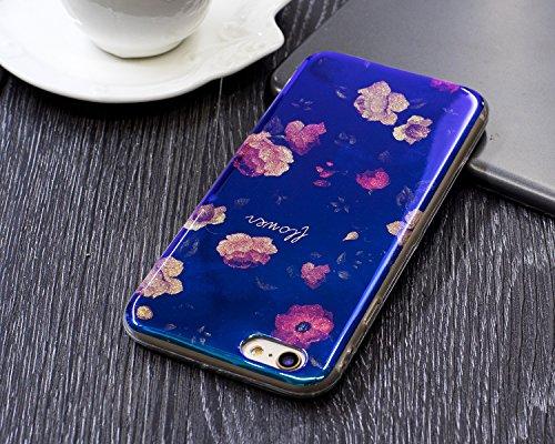 JIALUN-carcasa de telefono Para Apple IPhone 6 y 6s caso, la impresión de la moda de la espalda cubierta de la caja del teléfono móvil ( Color : E ) B