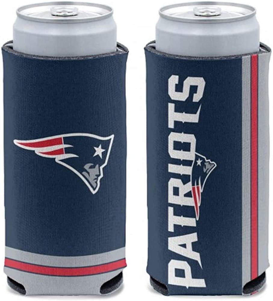 WinCraft NFL New England Patriots Slim Can Cooler, Team Colors, One Size